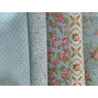 Finnegan Sky Blue 1/4m x 5 Bundle