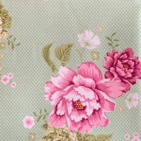 Flower Patch Green Tilda  Fabric 1/2m (Width 140cm) 480267