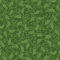 Better Not Pout Holly Swirl Green 91167340 Patchwork & Quilting Fabric