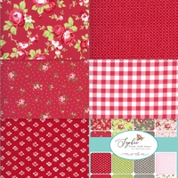 Sophie Rosey Red by Brenda Riddle Designs 5 x 1/4 m Rosy Red Bundle